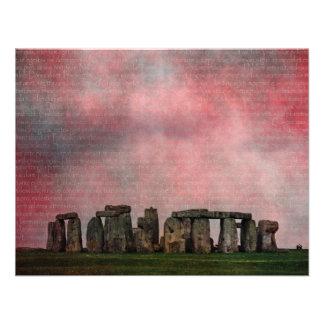 Stone Henge Textural Custom Invites