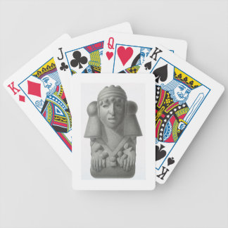 Stone idol of the Rain God Cocijo, plate from 'Anc Poker Deck