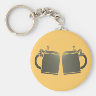 Stone jugs of more beer stones basic round button key ring
