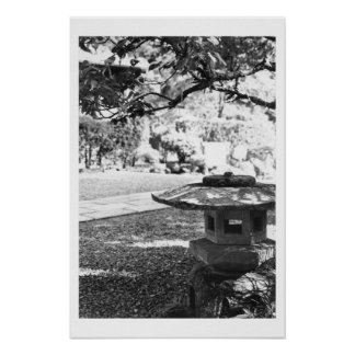 Stone Lamp White Poster