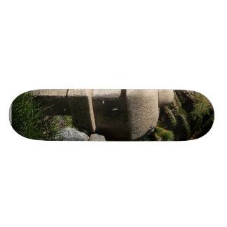 Stone Lantern At The Wild Animal Park In San Diego Skate Board Deck