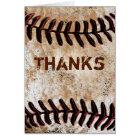 Stone Like Vintage Baseball Thank You Themed Cards