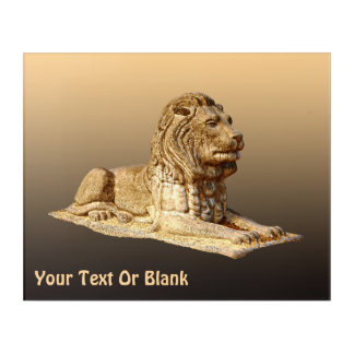 Stone Lion Acrylic Wall Art