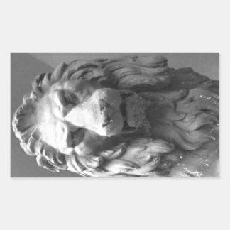 Stone Lion Rectangular Sticker