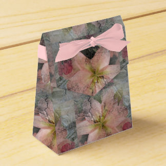 Stone look flower design Gift Box Favour Boxes