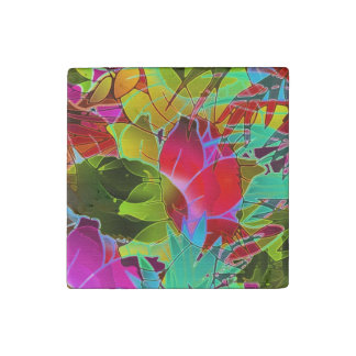 Stone Magnet Floral Abstract Artwork