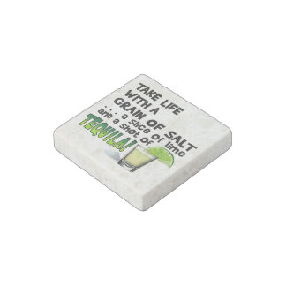 STONE MAGNETS - LIFE, LIME, SALT, TEQUILA! STONE MAGNET