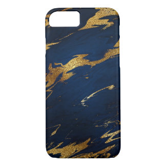 Stone Marble Blue Navy Gold iPhone Samsung iPhone 8/7 Case