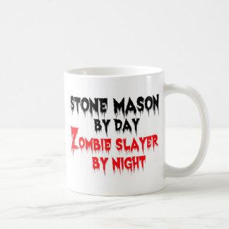 Stone Mason by Day Zombie Slayer by Night Basic White Mug
