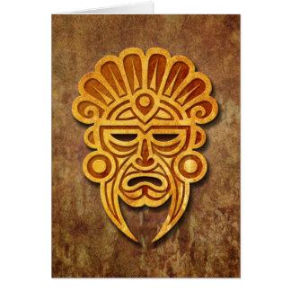 Stone Mayan Mask Card