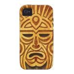Stone Mayan Mask, full Vibe iPhone 4 Case