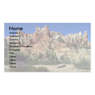 Stone minarets outside Bryce National Park, Utah Business Card Template