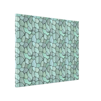 Stone Mosaic Pattern Gallery Wrapped Canvas