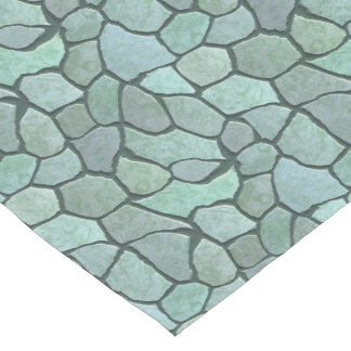 Stone Mosaic Pattern Short Table Runner