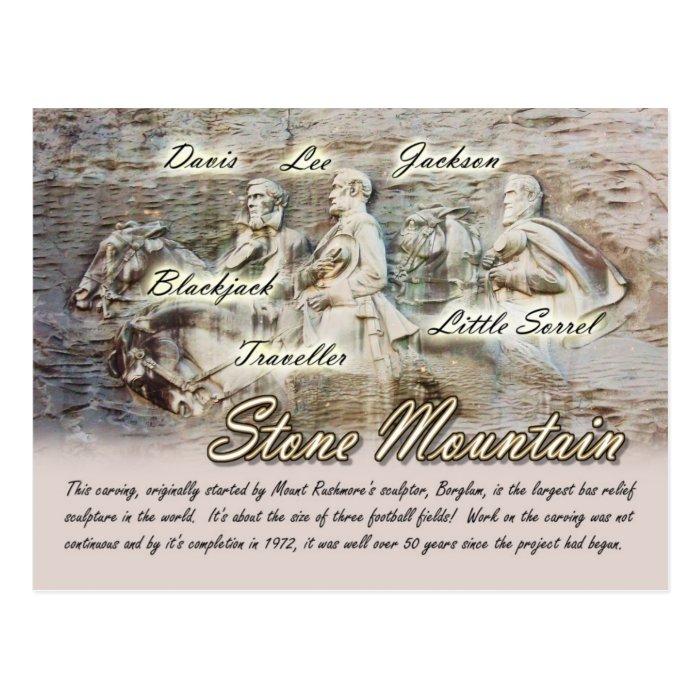 Stone Mountain Carving, Georgia Postcard