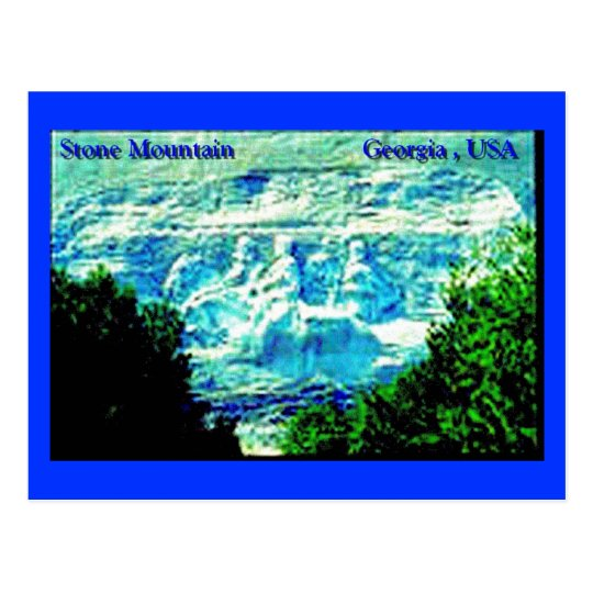 Stone Mountain Carving Post Card