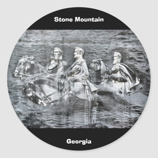 Stone Mountain, Georgia Round Stickers