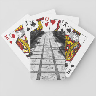 Stone path alley playing cards