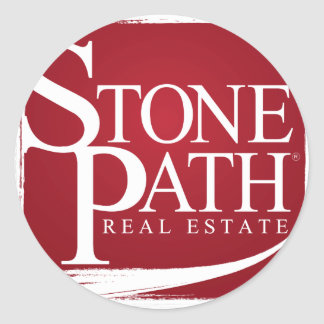 Stone Path Real Estate Apperal Round Stickers
