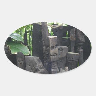 Stone People Oval Sticker