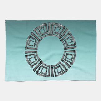 Stone Retro Greek Disc Kitchen Towel