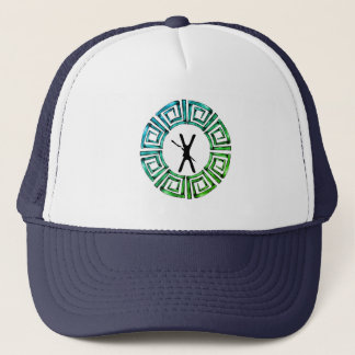 Stone Retro Greek Disc Trucker Hat
