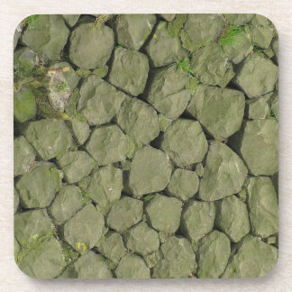 Stone Rockwall Texture Background Drink Coasters