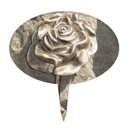 Stone Rose Cake Pick