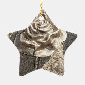 Stone Rose Ceramic Star Decoration