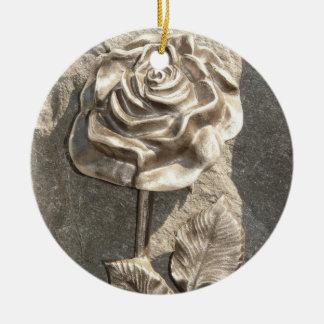 Stone Rose Christmas Ornament