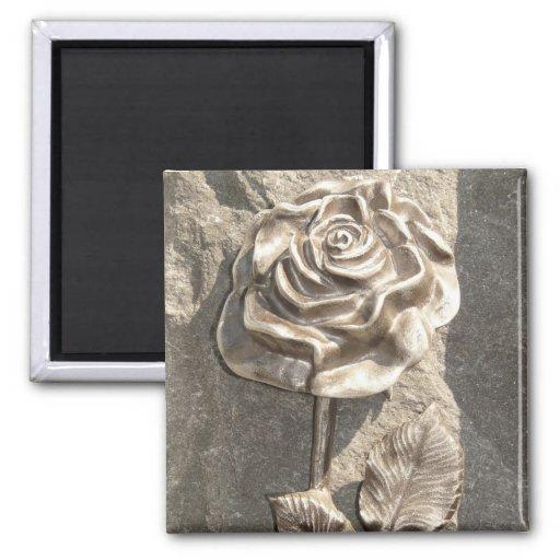 Stone Rose Fridge Magnet