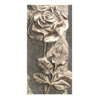 Stone Rose Photo Greeting Card