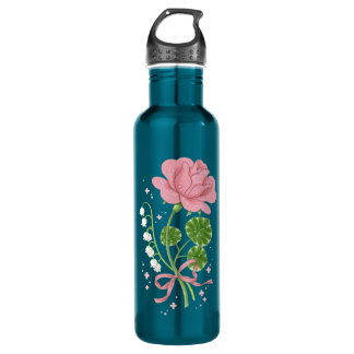 Stone Rose (pink/turquoise) 710 Ml Water Bottle