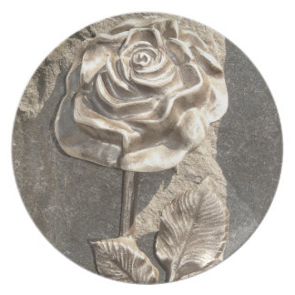 Stone Rose Dinner Plates