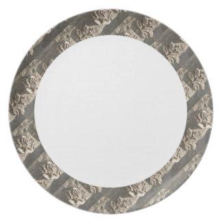 Stone Rose Plates