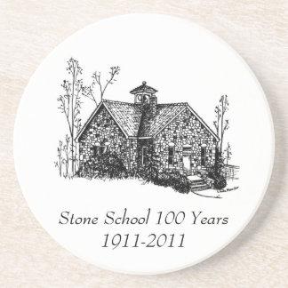 Stone School 100 Years Coaster