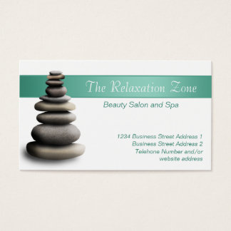 Stone Sculpture Health Spa Business Cards