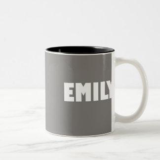 Stone shade Emily name Two-Tone Coffee Mug