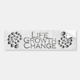Stone Spiral Life Growth Change Bumper Sticker