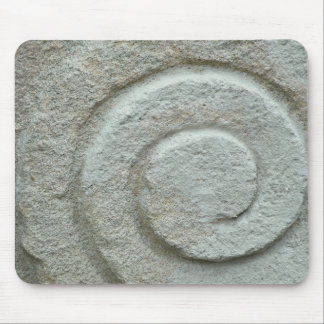 Stone spiral mouse mat