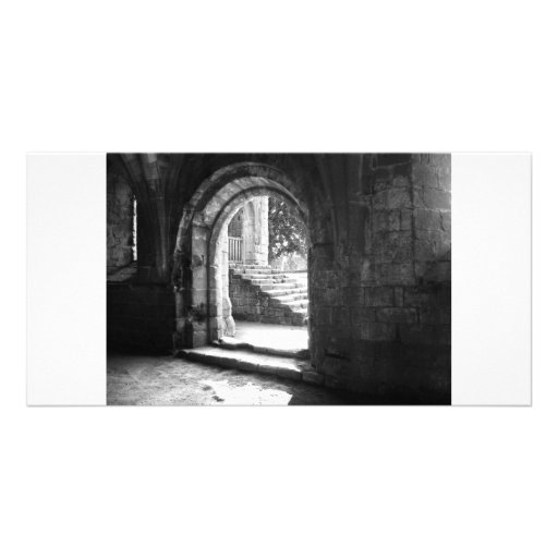 stone-stairs-in-fountains-abbey personalized photo card