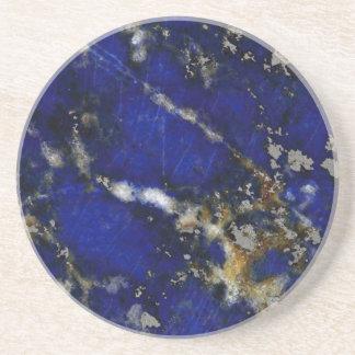Stone texture: Lapis lazuli Beverage Coasters