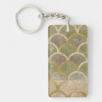 Stone Tile Design by Chariklia Zarris Key Ring