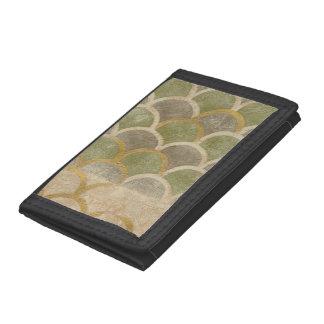 Stone Tile Design by Chariklia Zarris Tri-fold Wallets