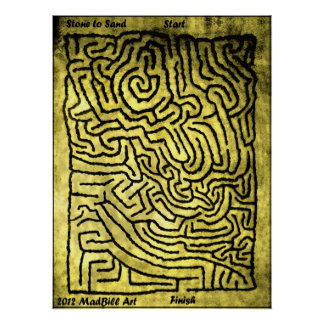 Stone to Sand Maze Posters