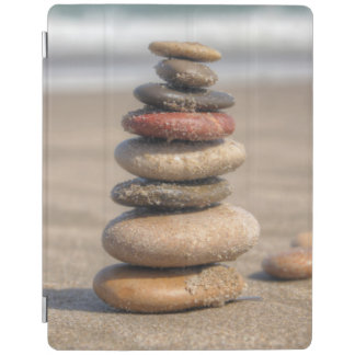 Stone Tower On Beach iPad Cover