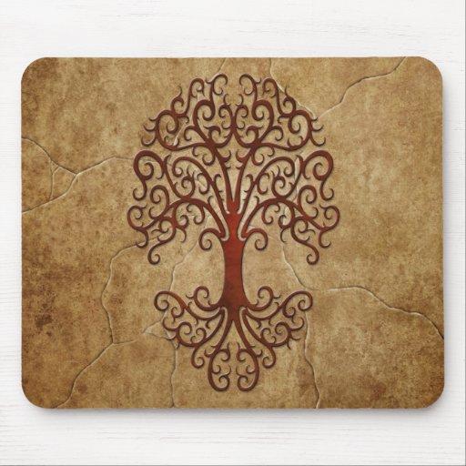 Stone Tribal Tree Mousepad