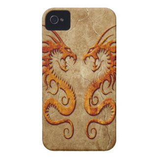 Stone Twin Dragons Case-Mate iPhone 4 Case