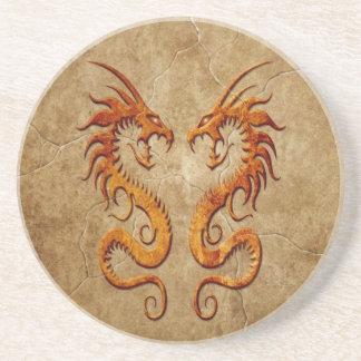 Stone Twin Dragons Coaster