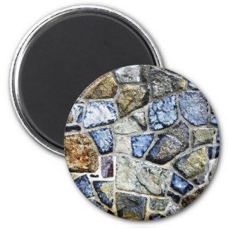 stone wall abstract 6 cm round magnet